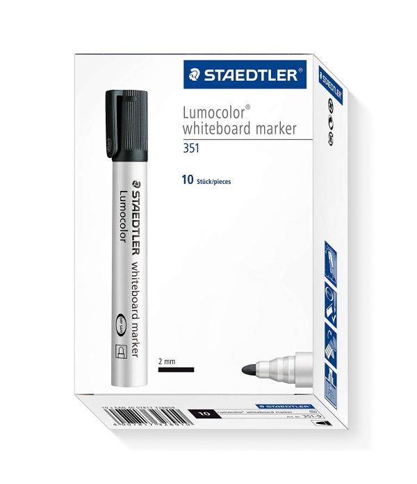 Staedtler Drywipe 351 Whiteboard Marker Box of 10
