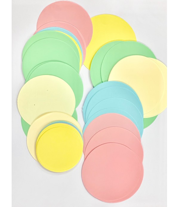 Circles Pastel - Cut Out Shapes