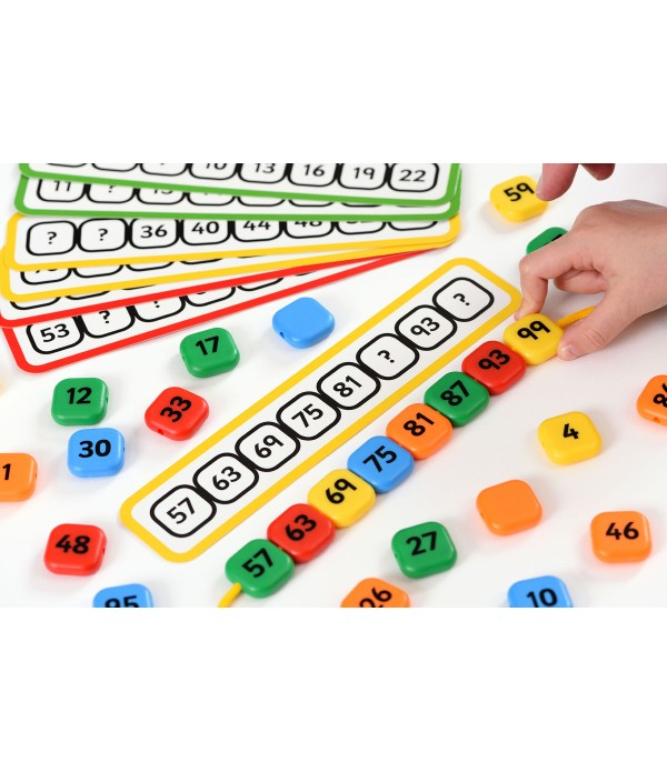 Number Sequence Lacing Beads