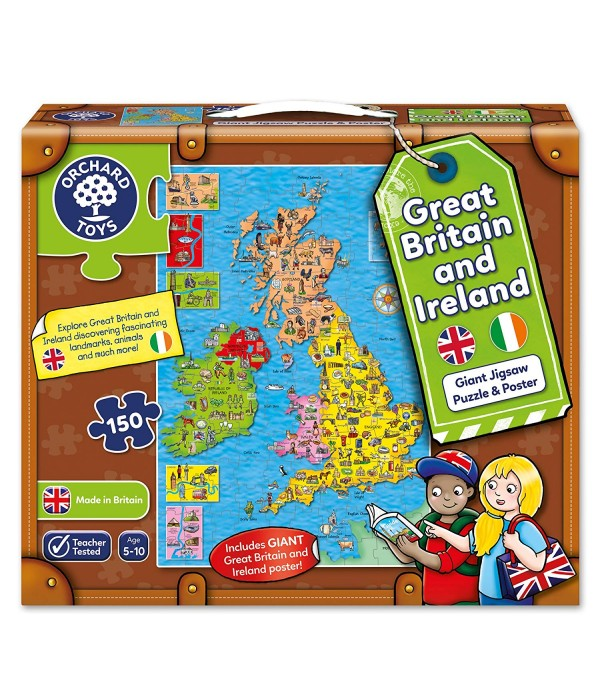 Britain & Ireland Puzzle and Poster
