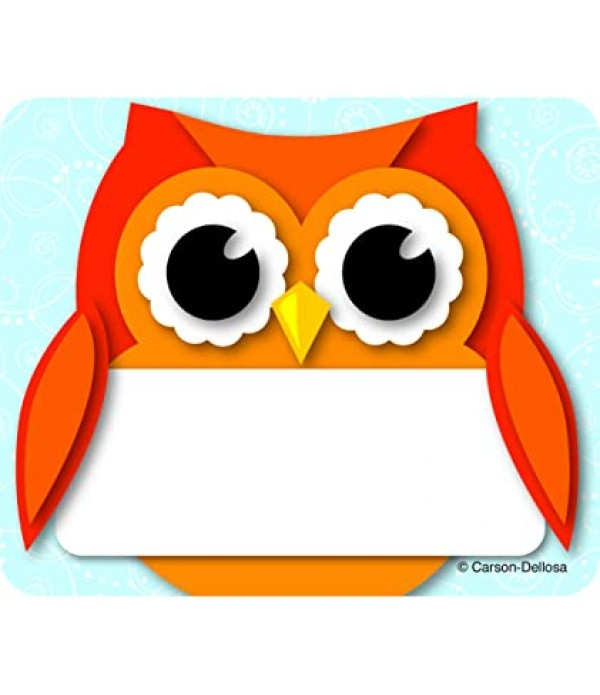 Name Tags - Colorful Owl