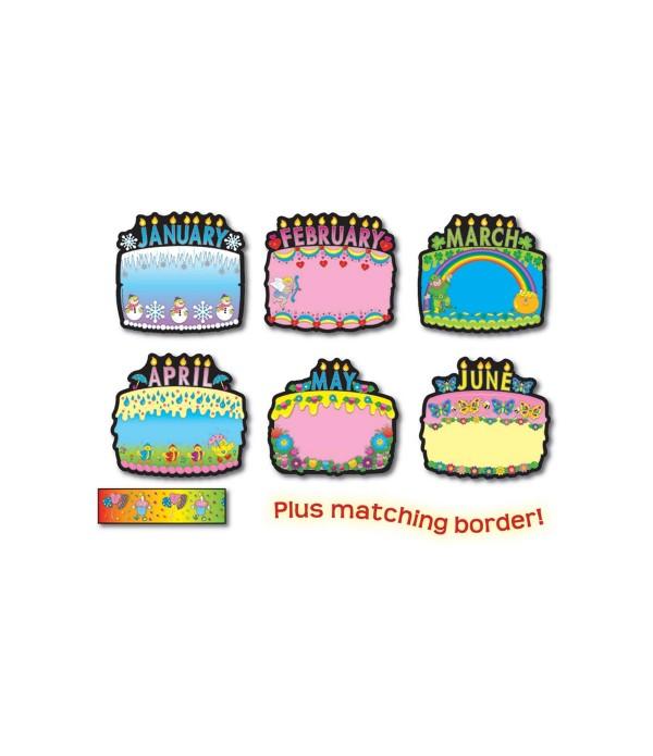 Birthday Cakes Poster Set