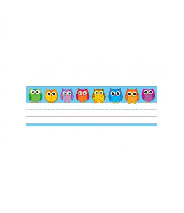 Name Plates - Colorful Owls