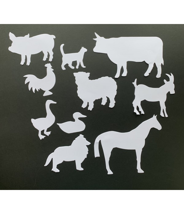 Farm Animals - Cut Out Shapes