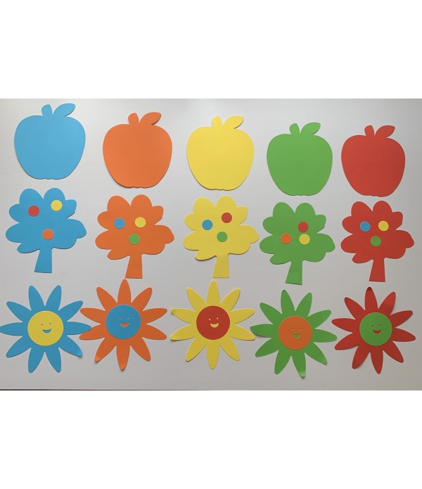 Tree, Apple,Fish, Flower, Butterfly - Cut Out Shap...