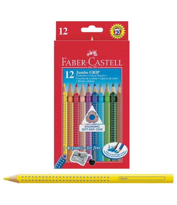 Colour Grip Jumbo Coloring Pencils 12`s