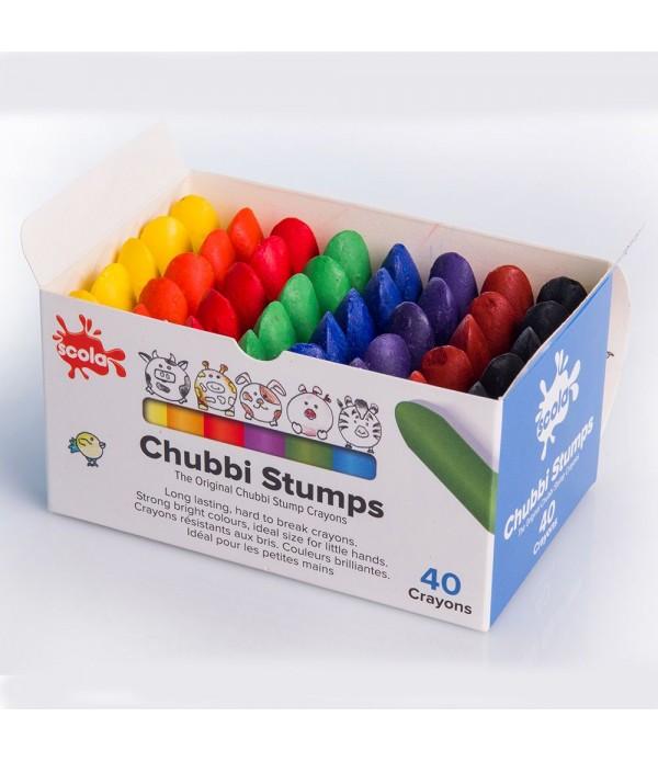 Chubbi Stumps Crayons Box of 40