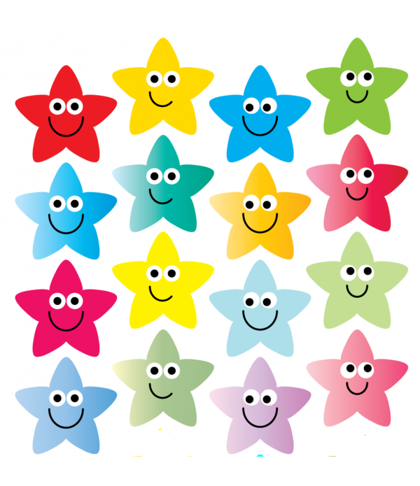 Sticker  Rainbow Stars