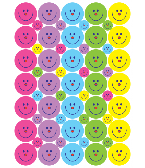 "Sticker ""Smiley Faces"" 24 &10mm"