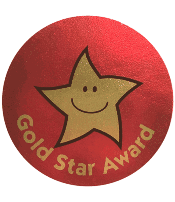 Sticker  Gold Star Award