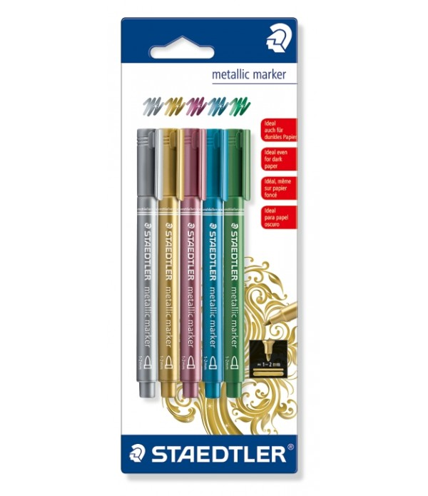 Metallic Markers Box Of 5