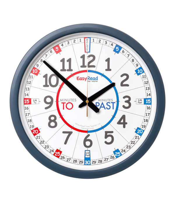 EasyRead Classroom Wall Clock. Time Teacher Past &...