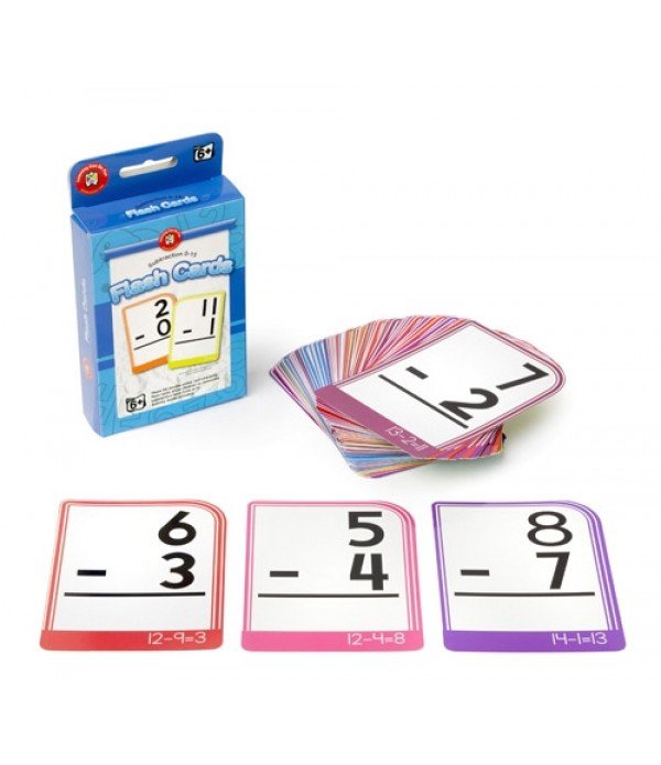 Flash Cards Subtraction 0-15