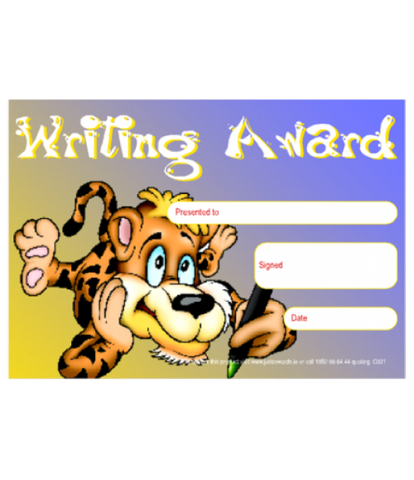 Award Certs Writing