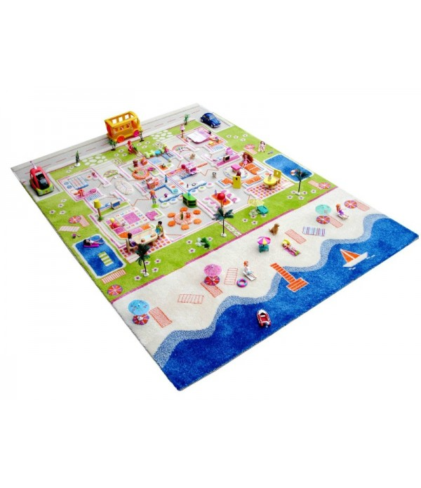 Twin Houses 3D Play Rug