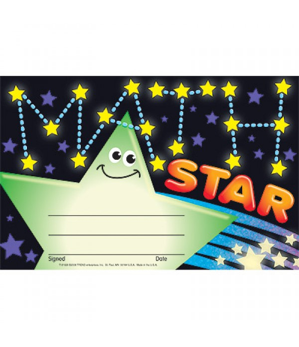 Award Certs Math Recognition