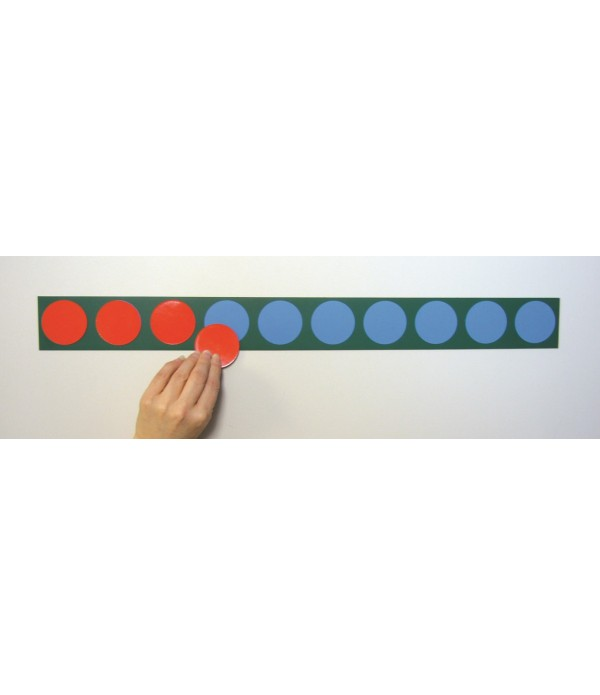 Magnetic Counters Strip & 10 Counnters