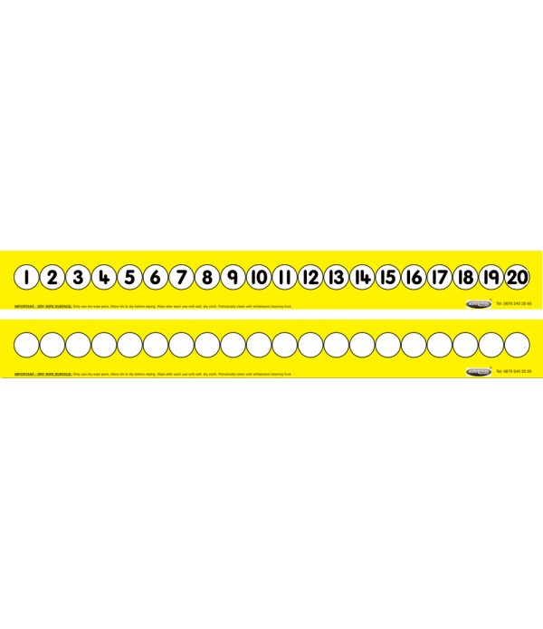 Childs 1-20 Number Track (Folding Yellow)