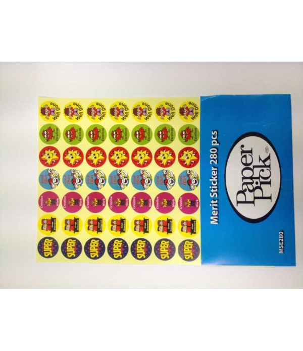 A4 Merit Stickers English Pk280