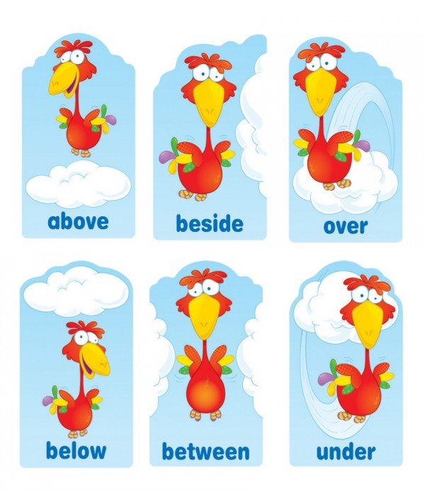 Positional Words Poster Set
