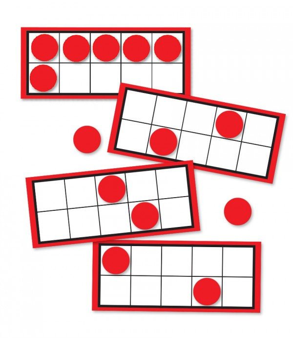 Ten Frames and Counters Cut Outs
