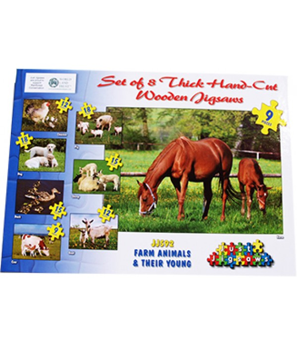 Farm Animal & Their Young Jigsaws