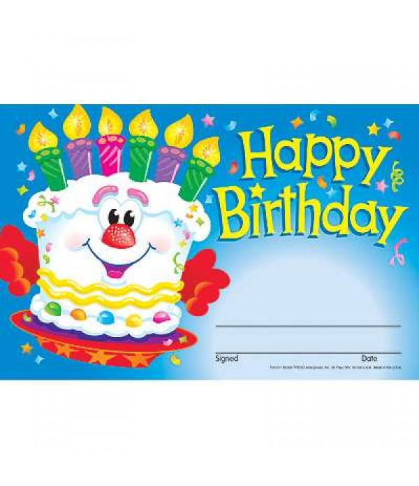 Award Certs Happy Birthday