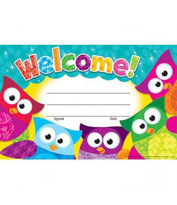 Award Certs Welcome (Owls)