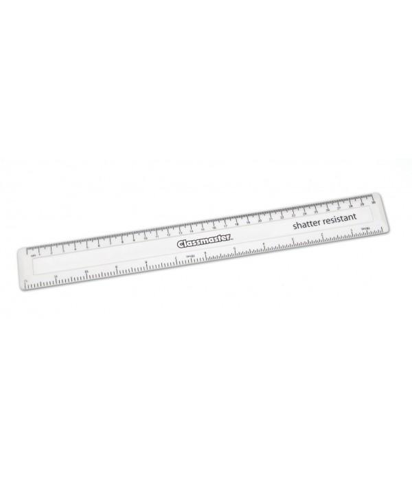 Plastic 12'' Non Shatter Ruler