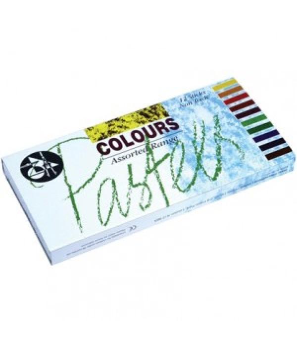 Colour Pastels 12 Sticks
