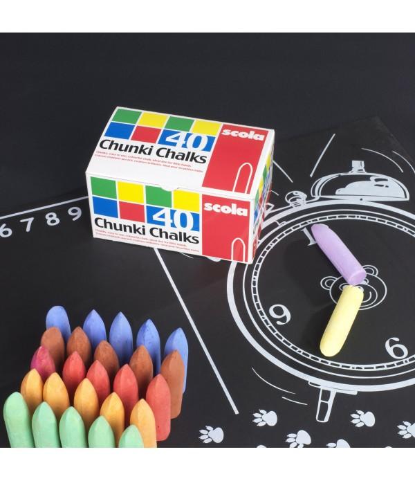 Chunki Chalk Coloured 40's