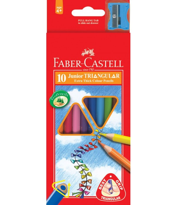 Junior Triangular Colouring Pencils 10`s