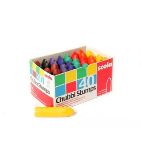 Chubbi Stumps Crayons Box of 40