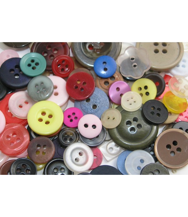 Buttons Assorted 500grm Bag