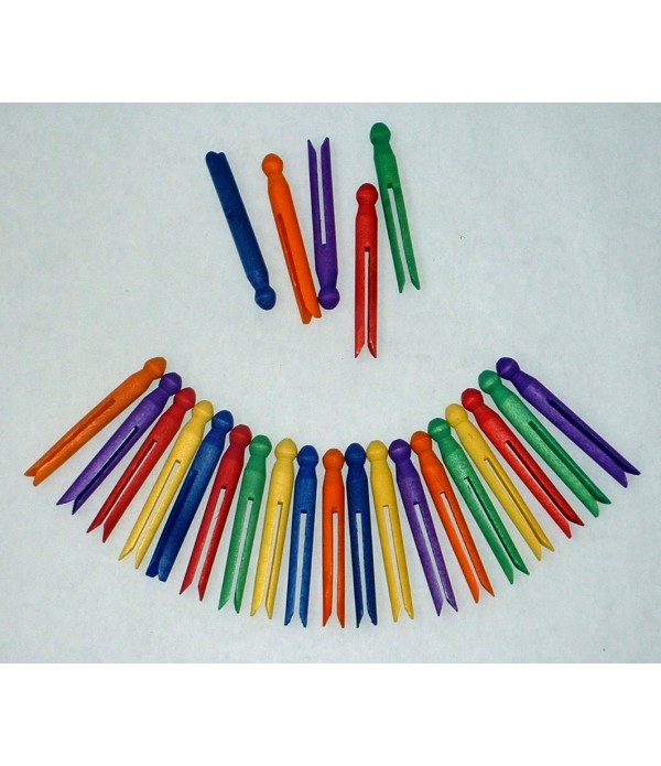 Dolly Pegs Coloured Pack of 50
