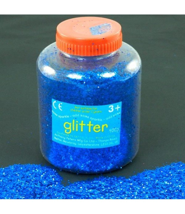Glitter Dispenser Blue 400g Class Pack