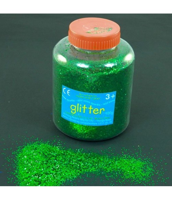 Glitter Dispenser Green 400g Class Pack