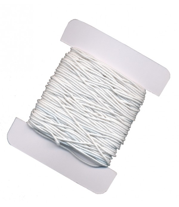 White Elastic Cord 8m