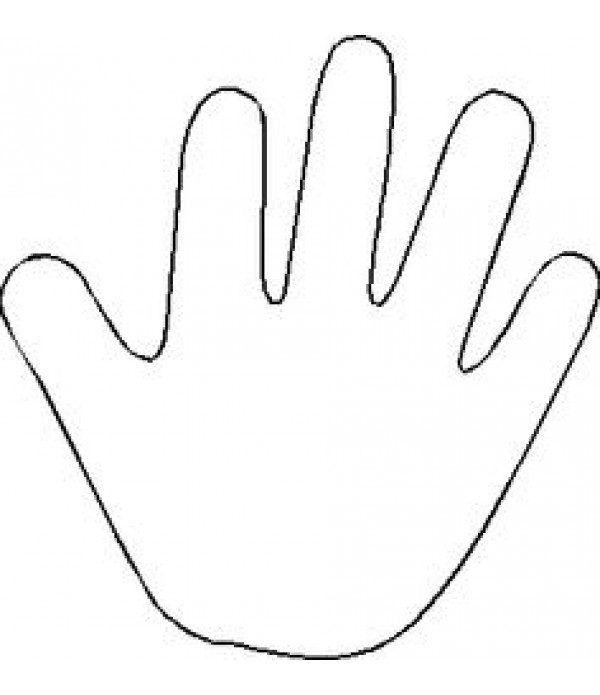 Hand Templates To Decorate Pack of 10