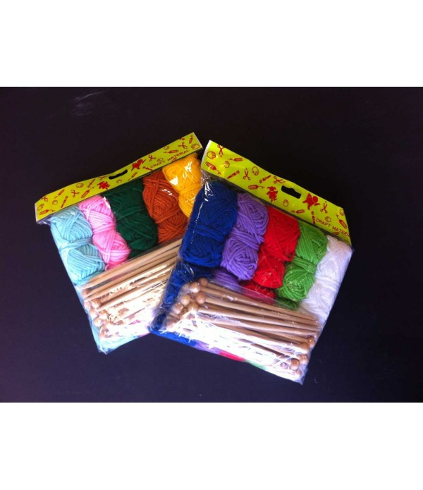 Knitting Needles & Wool Pack of 10