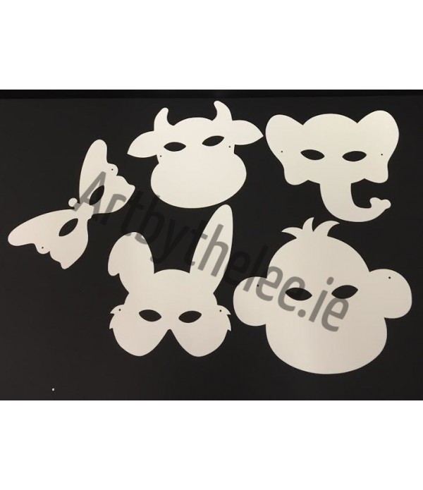 Cardboard Mask Plain Pack of 10