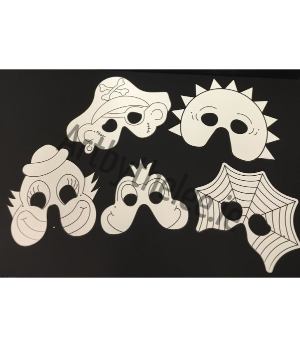 Cardboard Mask Printed Pack of 10