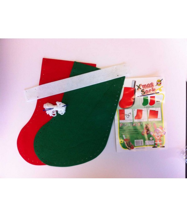 Felt Christmas Stocking To Sew
