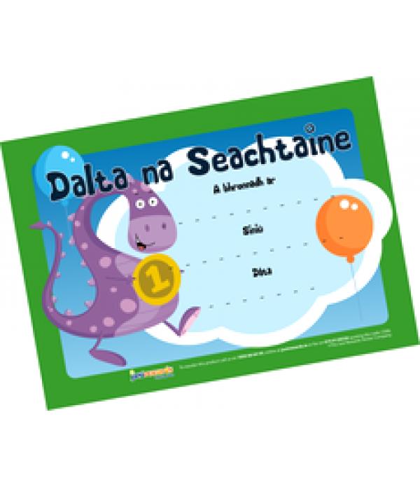 Award Certs Dalta na Seachtaine