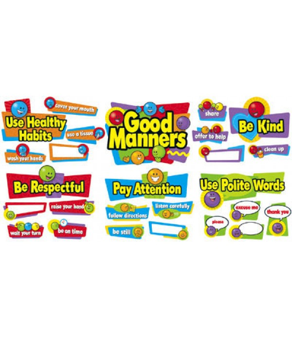 Good Manners Bulletin Board Set