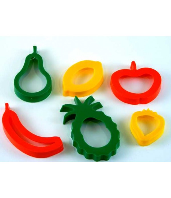 Pastry Cutters Fruit Pack of 6