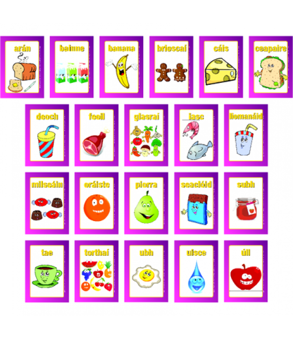 Bia Junior Food Signs Set of 21