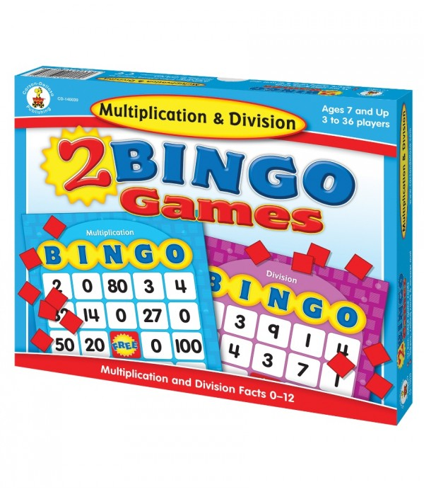 2 Bingo Games Multiplication & Division