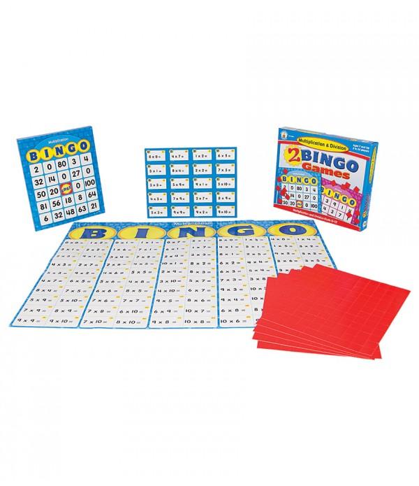 2 Bingo Games Multiplication & Division