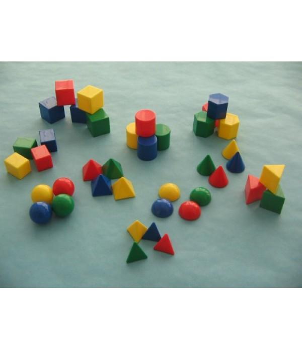 Geometric 3D Mini Maths Shapes